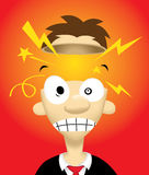 Exploding Head. Image of person who have a great idea inside his head Stock Photography