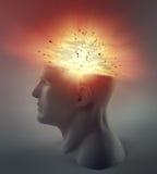 Exploding head vector illustration