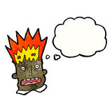 Exploding head businessman Royalty Free Stock Photography