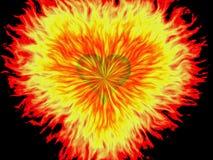 Exploding heart Stock Image