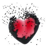 Exploding Heart Royalty Free Stock Photo