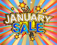 Exploding January Sale Royalty Free Stock Photography