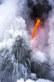 Exploding lava flow in Hawaii Stock Photography