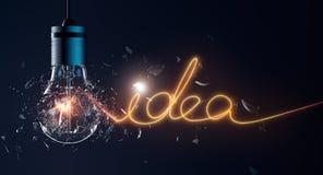 Exploding Light Bulb Royalty Free Stock Photo