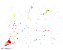 Exploding party popper Royalty Free Stock Photography
