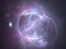 Exploding planet. Abstract fractal design Stock Photo
