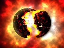 Exploding Planettheory Royalty Free Stock Image