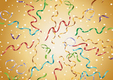 Exploding ribbons Stock Photo