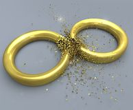 Exploding rings Royalty Free Stock Photography