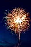 Exploding rocket Stock Photo