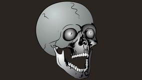 Exploding skull stock video