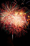 Exploding sky. Firework on whitsun in Wissembourg - Alsace - France Royalty Free Stock Photography