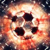 Exploding soccer ball Royalty Free Stock Photo