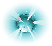 Exploding space body in cartoon style Royalty Free Stock Images