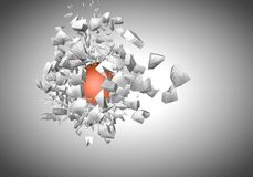 exploding sphere abstract 3d shpaes Royalty Free Stock Images