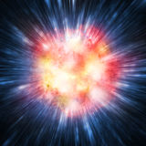 Exploding star or planet. Illustration of a exploding star or planet Royalty Free Stock Photography