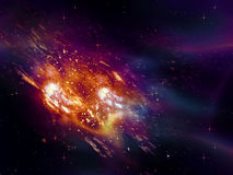 Exploding of Star in Space Royalty Free Stock Image