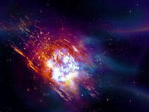 Exploding of Star in Space Royalty Free Stock Photo