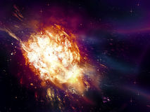 Exploding of Star in Space Stock Images