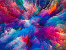 Exploding Surreal Paint Royalty Free Stock Photo