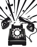 Exploding telephone  Stock Photos