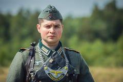 Exploit oublié Ligne reconstitution historique militaire de Stalin photographie stock