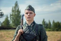 Exploit oublié Ligne reconstitution historique militaire de Stalin photo stock