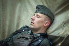 Exploit oublié Ligne reconstitution historique militaire de Stalin photographie stock libre de droits