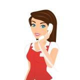 Exploitant de centre serveur féminin d'appel - Images stock