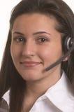 exploitant op hoofdtelefoon Stock Afbeelding