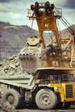 Exploitation de minerai de fer Photographie stock libre de droits