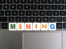 Exploitation de Word sur le fond de clavier Photographie stock