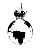 Exploitation of the earth. The exploitation of the earth, Illustration Royalty Free Stock Photos