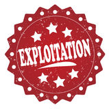 Exploitation red grunge label, sticker. Exploitation red label, sticker  on white background Royalty Free Stock Images