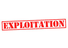EXPLOITATION. Red Rubber Stamp over a white background Royalty Free Stock Images