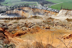 Exploitation of a stone pit Stock Images