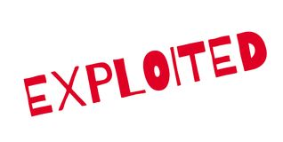 Exploited rubber stamp Royalty Free Stock Photo