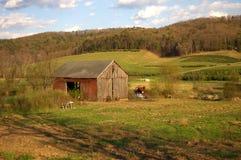 Exploração agrícola abandonada Fotos de Stock