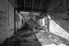Exploração agrícola abandonada no sul jutland imagens de stock royalty free