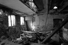 Exploração agrícola abandonada no sul jutland fotografia de stock royalty free
