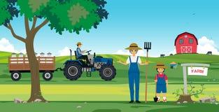 Exploração agrícola agricultural ilustração royalty free