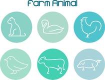 exploração agrícola animal Imagem de Stock Royalty Free