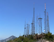Exploração agrícola da antena Fotografia de Stock
