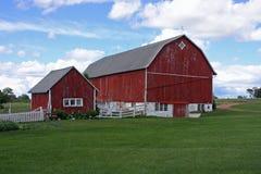 Exploração agrícola da família Fotografia de Stock
