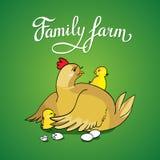 Exploração agrícola da família da rotulação Imagens de Stock
