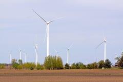 Exploração agrícola da turbina eólica Imagem de Stock