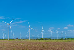 Exploração agrícola das energias eólicas Fotos de Stock Royalty Free