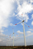 Exploração agrícola das turbinas de vento Imagem de Stock