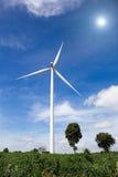 Exploração agrícola das turbinas de vento Fotografia de Stock Royalty Free