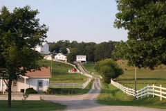 Exploração agrícola de Amish fotografia de stock royalty free